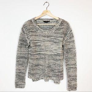 JACK Metallic Thread Loose Knit Sweater XS Marion